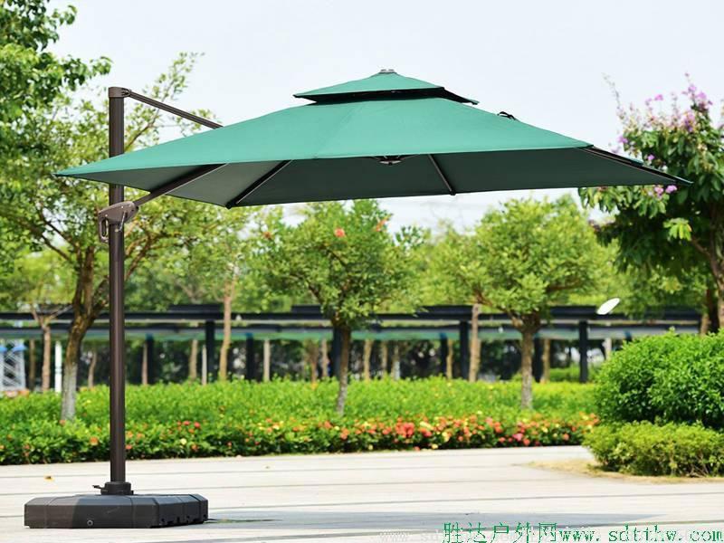 3米方形无边美版(AMT)罗马伞墨绿色爱美特品牌伞